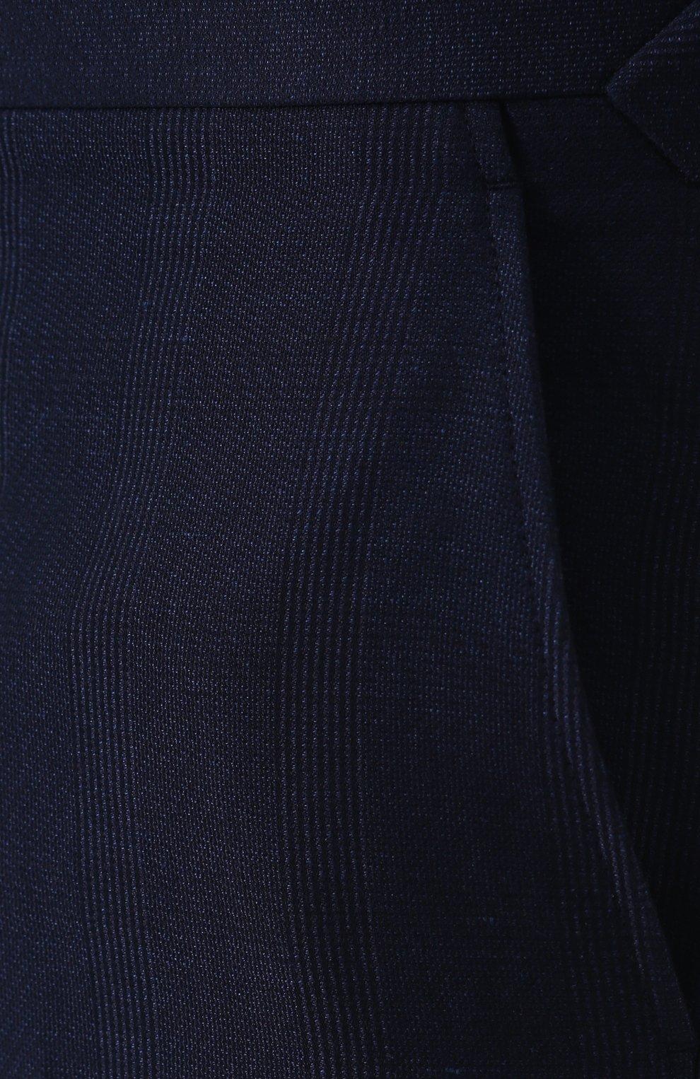 Брюки прямого кроя из смеси хлопка и льна с шелком | Фото №5
