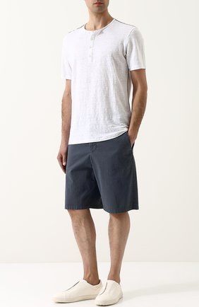 Хлопковые шорты свободного кроя   Фото №2