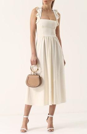 Женская сумка nile CHLOÉ светло-бежевого цвета, арт. CHC17US301HEU268   Фото 2