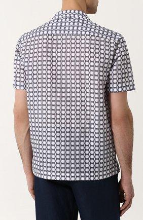 Мужская рубашка из смеси льна и хлопка GIORGIO ARMANI серого цвета, арт. WSC5VT/WS17C | Фото 4