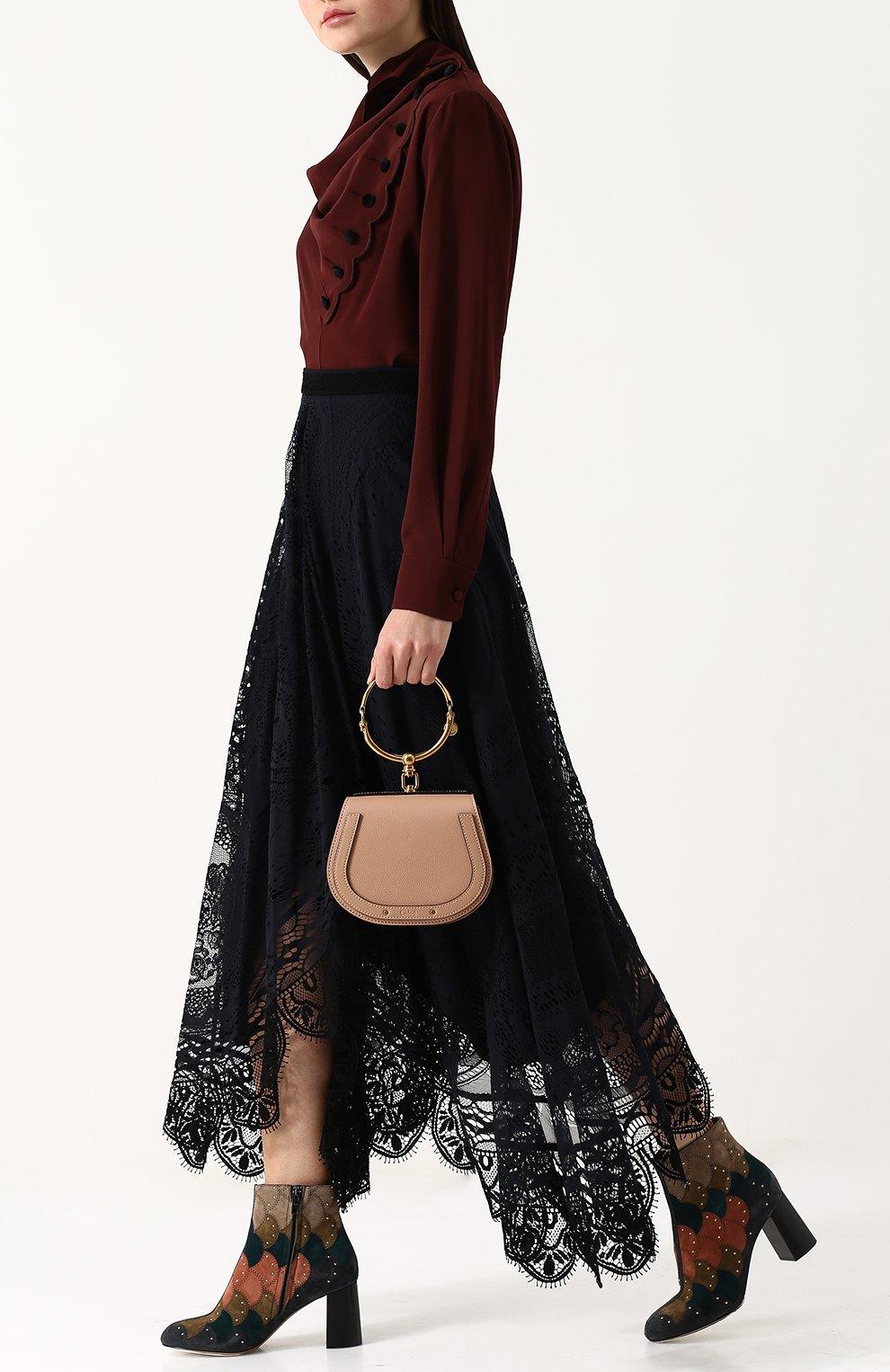 Женская сумка nile small CHLOÉ светло-бежевого цвета, арт. CHC17US301HEU | Фото 2