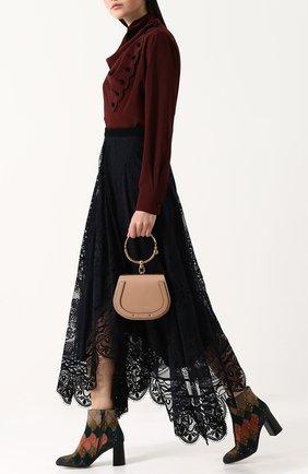 Женская сумка nile small CHLOÉ светло-бежевого цвета, арт. CHC17US301HEU   Фото 2