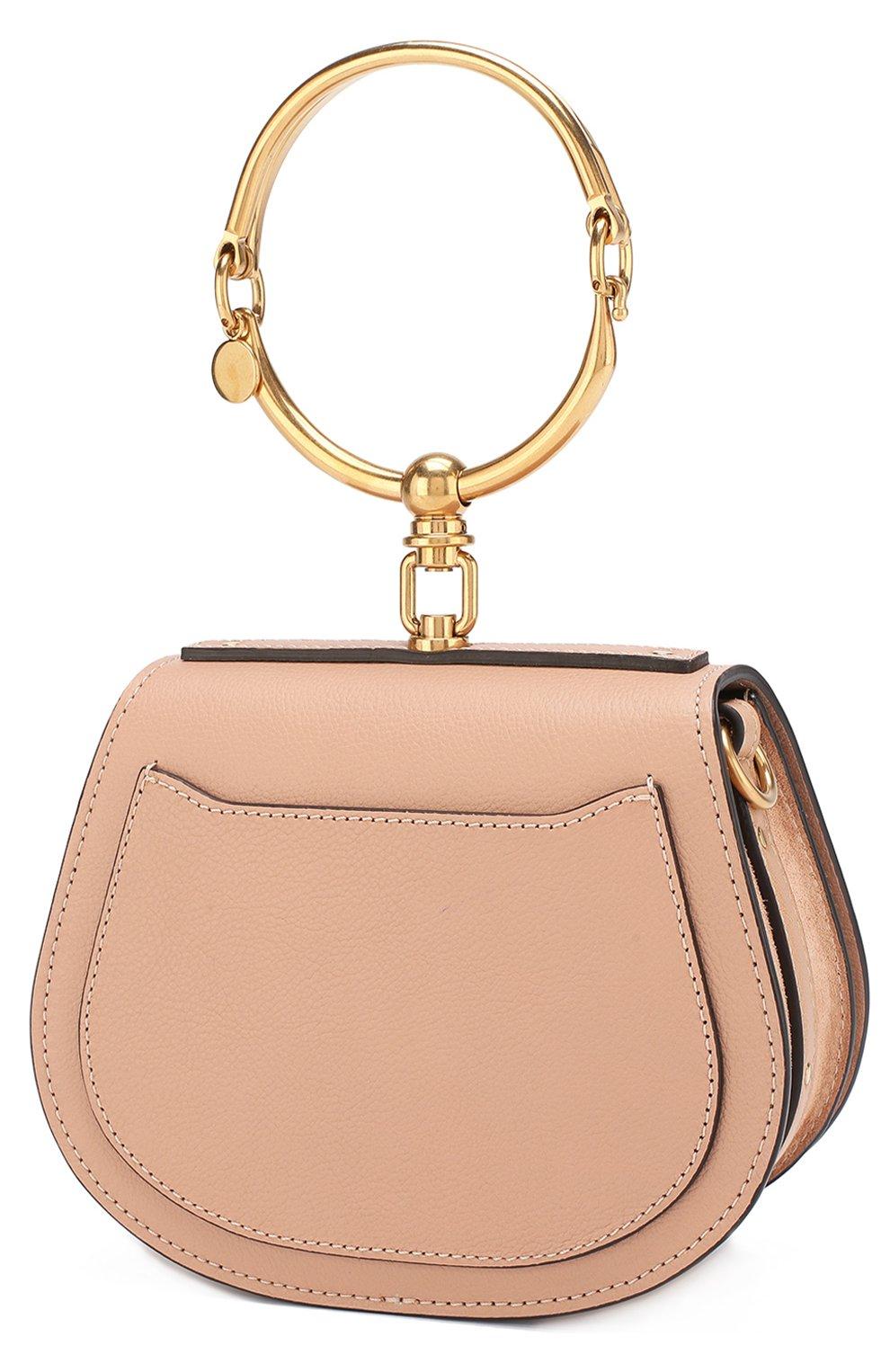 Женская сумка nile small CHLOÉ светло-бежевого цвета, арт. CHC17US301HEU | Фото 3