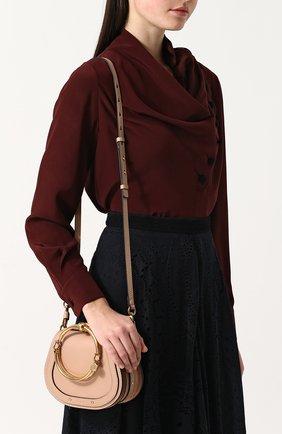 Женская сумка nile small CHLOÉ светло-бежевого цвета, арт. CHC17US301HEU | Фото 5