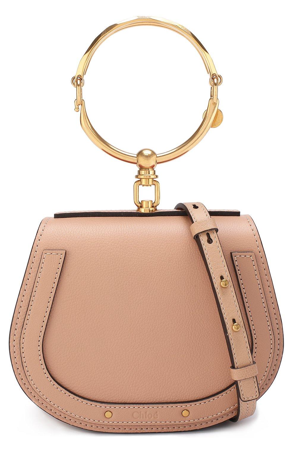 Женская сумка nile small CHLOÉ светло-бежевого цвета, арт. CHC17US301HEU | Фото 6
