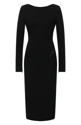 Женское платье из вискозы TOM FORD черного цвета, арт. ABJ043-FAX021 | Фото 1