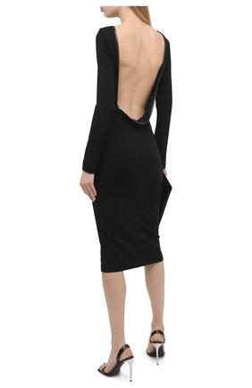 Женское платье из вискозы TOM FORD черного цвета, арт. ABJ043-FAX021 | Фото 2