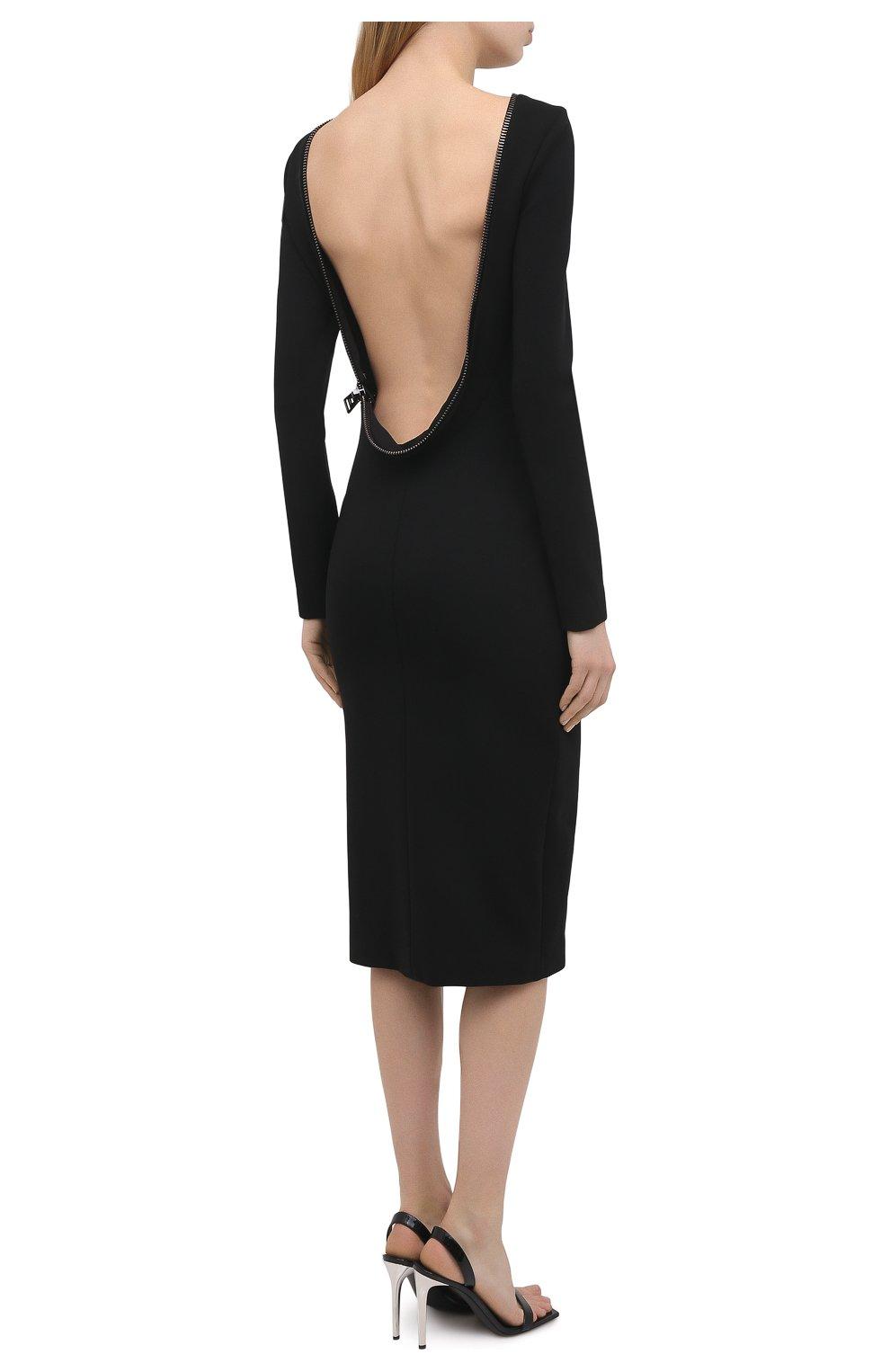a42e36259a7 Женское черное платье-футляр с открытой спиной TOM FORD — купить за ...