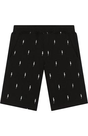 Хлопковые шорты с контрастной вышивкой | Фото №1