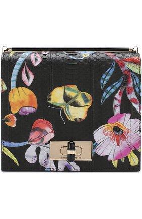 Кожаная сумка с принтом | Фото №1