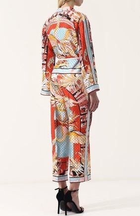 Женский шелковый комбинезон с принтом и поясом EMILIO PUCCI разноцветного цвета, арт. 82RI11/82731 | Фото 4