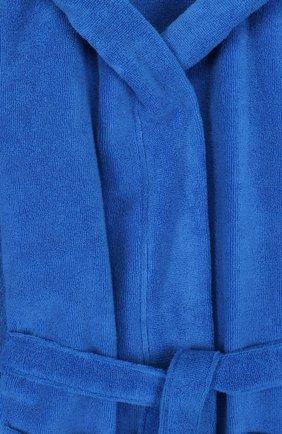 Хлопковый халат с поясом и капюшоном | Фото №3