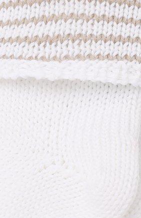 Детские хлопковые носки LORO PIANA бежевого цвета, арт. FAG3950 | Фото 2