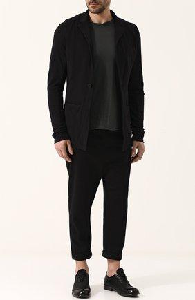 Однобортный хлопковый пиджак Thom Krom черный | Фото №1