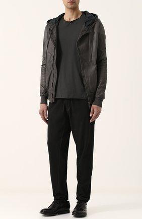 Хлопковые брюки прямого кроя Thom Krom черные | Фото №1