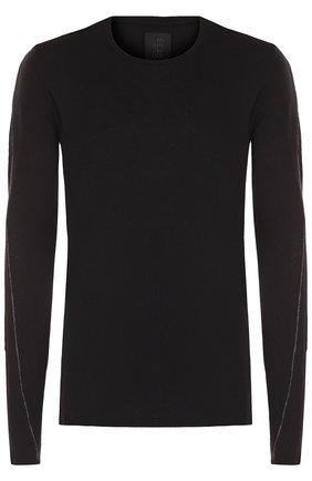 Джемпер тонкой вязки из смеси хлопка и льна Thom Krom черный | Фото №1