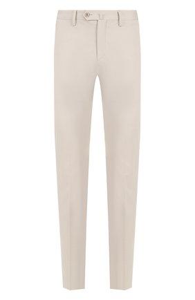 Мужские хлопковые брюки прямого кроя LORO PIANA светло-серого цвета, арт. FAI1279 | Фото 1