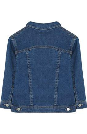 Детская джинсовая куртка с аппликациями KENZO синего цвета, арт. KL41008/3A-6A | Фото 2