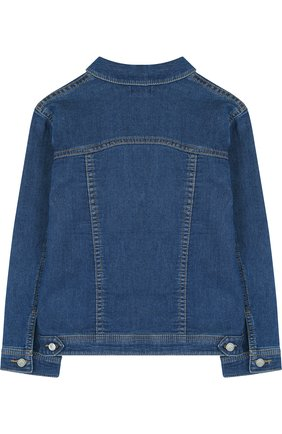 Детская джинсовая куртка с аппликациями KENZO синего цвета, арт. KL41008/8A-12A | Фото 2