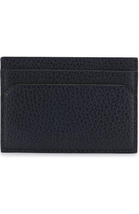 Кожаный футляр для кредитных карт Bally темно-синего цвета   Фото №1