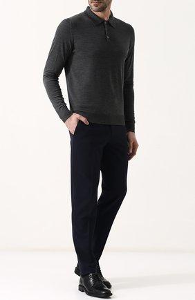 Мужское шерстяное поло с длинными рукавами ISAIA серого цвета, арт. MG7050/YP005 | Фото 2