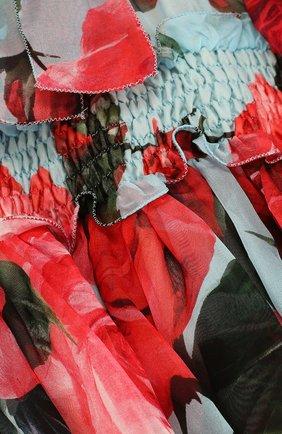 Женская шелковый комплект из платья и трусов DOLCE & GABBANA голубого цвета, арт. L29D48/HS1TU   Фото 4