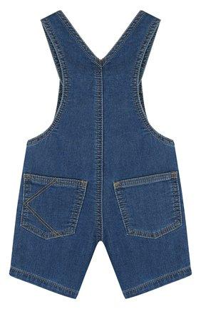 Детский джинсовый комбинезон с аппликациями KENZO синего цвета, арт. KL21007/6M-18M | Фото 2