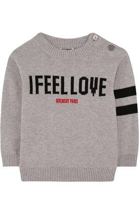 Пуловер из хлопка и кашемира с надписью | Фото №1