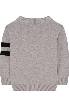 Пуловер из хлопка и кашемира с надписью | Фото №2