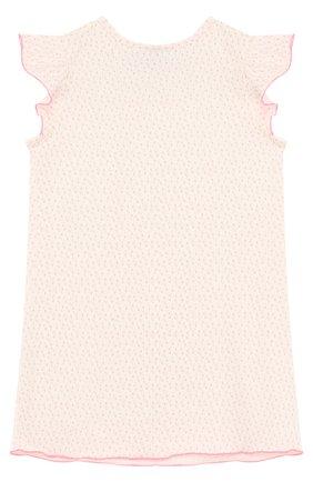 Детская хлопковая сорочка с принтом SANETTA бежевого цвета, арт. 232076 | Фото 2