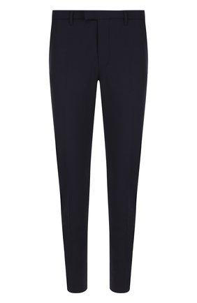 Шерстяные брюки прямого кроя Drykorn синие | Фото №1