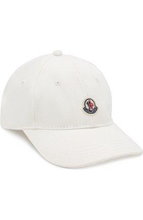 Детская бейсболка с логотипом бренда MONCLER ENFANT белого цвета, арт. D1-954-00289-05-04863/4-6A | Фото 1