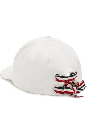 Детская бейсболка с логотипом бренда MONCLER ENFANT белого цвета, арт. D1-954-00289-05-04863/4-6A | Фото 2