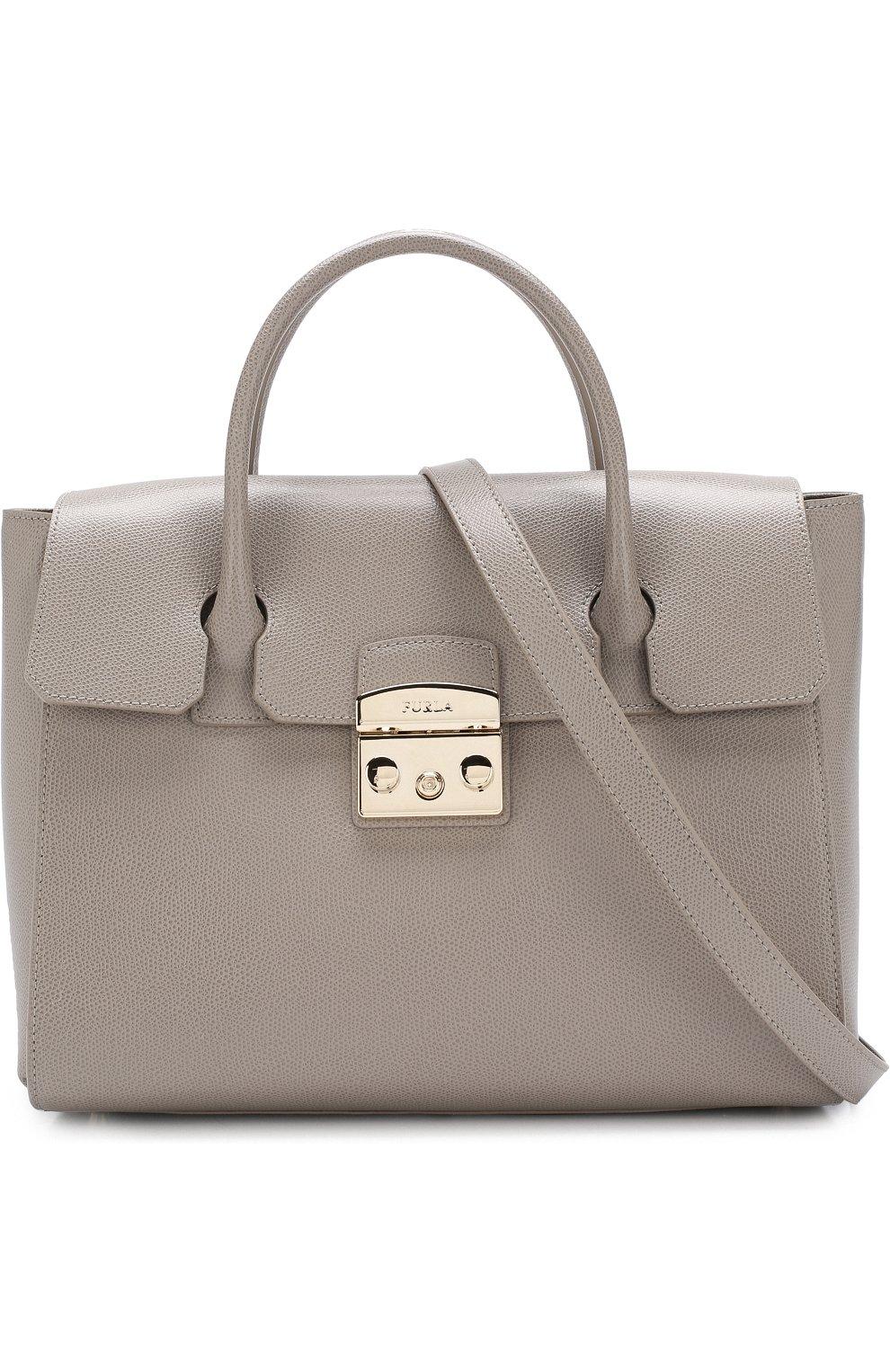 ba25bfe1855a Женская сумка metropolis FURLA серая цвета — купить за 33500 руб. в ...