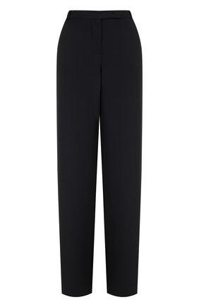 Однотонные расклешенные брюки из шелка | Фото №1