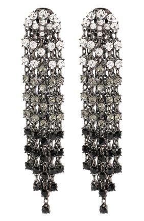 Серьги-клипсы с отделкой из кристаллов Swarovski | Фото №1