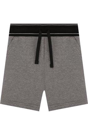 Хлопковые шорты с широким поясом   Фото №1