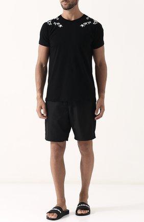 Резиновые шлепанцы с отделкой Dior черные | Фото №1