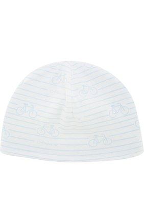 Хлопковая шапка с принтом   Фото №1
