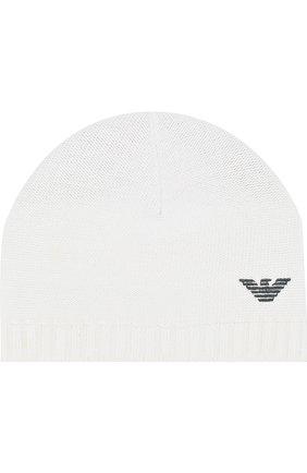 Хлопковая шапка с логотипом бренда   Фото №1