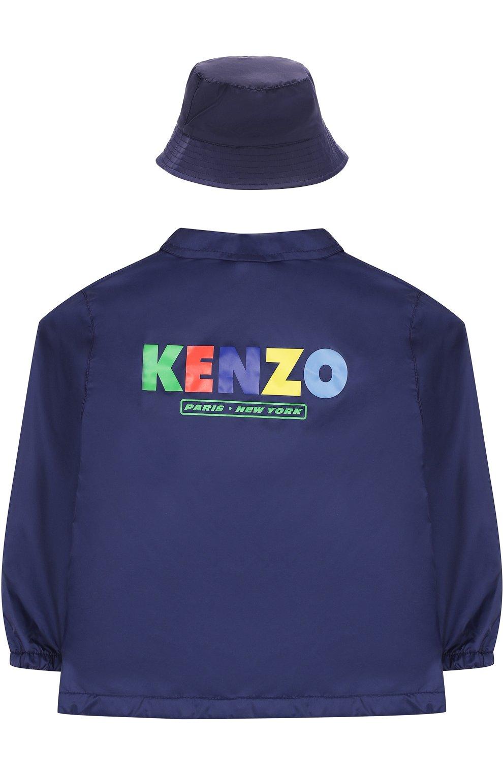 Детского комплект из ветровки и панамы KENZO темно-синего цвета, арт. KL42508/3A-6A | Фото 2