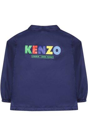 Детского комплект из ветровки и панамы KENZO темно-синего цвета, арт. KL42508/3A-6A | Фото 4