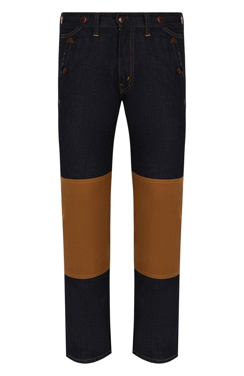 Мужские джинсы прямого кроя с отделкой junya watanabe x levi's JUNYA WATANABE синего цвета, арт. WA-P209-051 | Фото 1