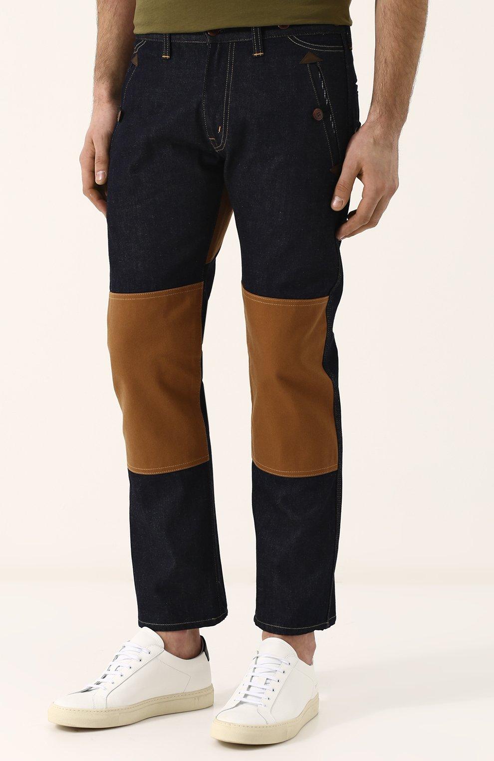 Мужские джинсы прямого кроя с отделкой junya watanabe x levi's JUNYA WATANABE синего цвета, арт. WA-P209-051 | Фото 3