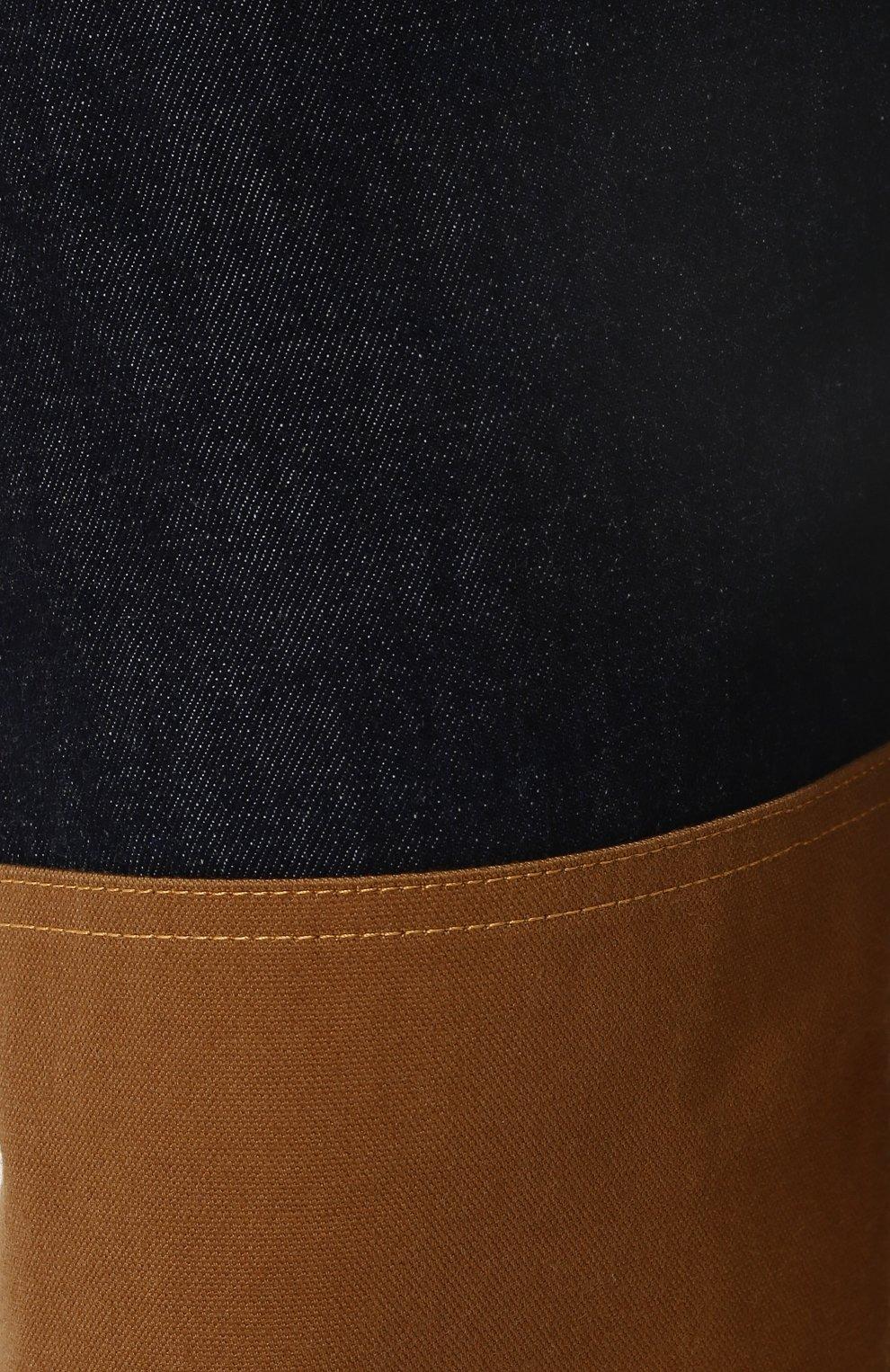 Мужские джинсы прямого кроя с отделкой junya watanabe x levi's JUNYA WATANABE синего цвета, арт. WA-P209-051 | Фото 5