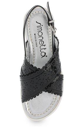 Детские лаковые сандалии на ремешке с перфорацией SIMONETTA черного цвета, арт. 54752/36-41   Фото 4