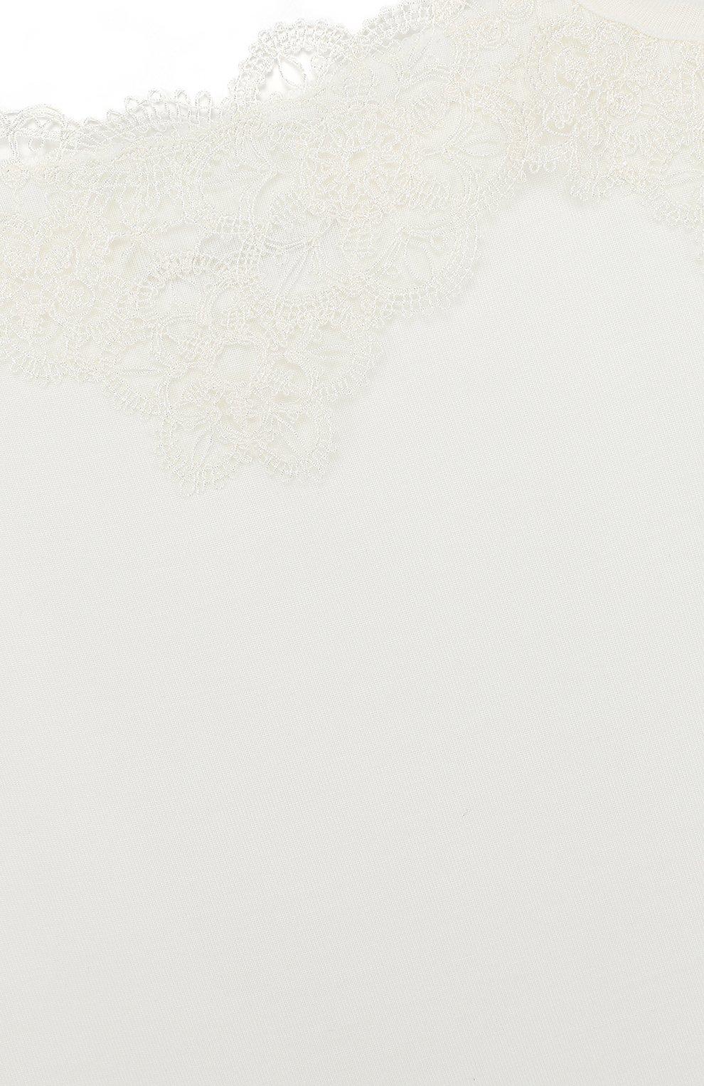 Детская майка из вискозы с кружевной отделкой LA PERLA бежевого цвета, арт. 51865/2A-6A | Фото 3