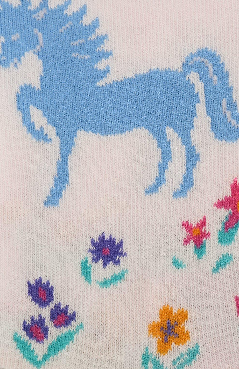 Детские носки с принтом FALKE светло-розового цвета, арт. 12070 | Фото 2