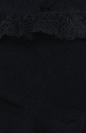 Детские носки с кружевной оборкой FALKE темно-синего цвета, арт. 12121 | Фото 2