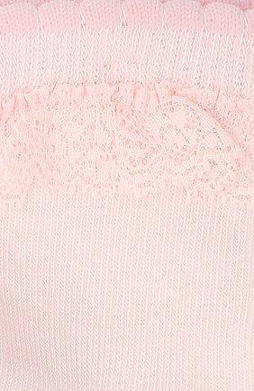 Детские носки с кружевной оборкой FALKE светло-розового цвета, арт. 12121 | Фото 2